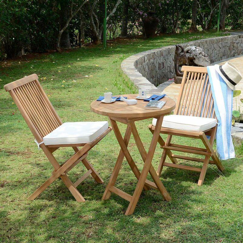 Teck'attitude - Salon de jardin en teck qualité Ecograde Lisbonne, 2 places - Naturel