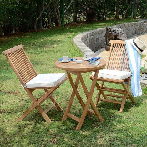 Salon de jardin en teck qualité Ecograde Lisbonne, 2 places - SJ-214-201