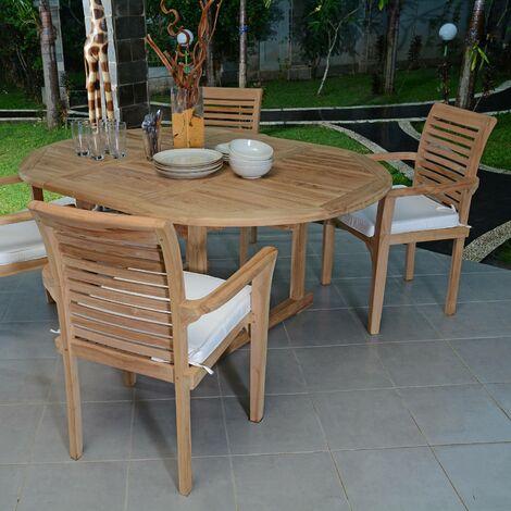 Salon de jardin en teck qualité Ecograde Marbella, 4/6 places