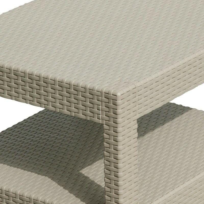 Salon de jardin Grand Soleil SORRENTO en Poly rotin table basse fauteuils  pour exterieur 4 places