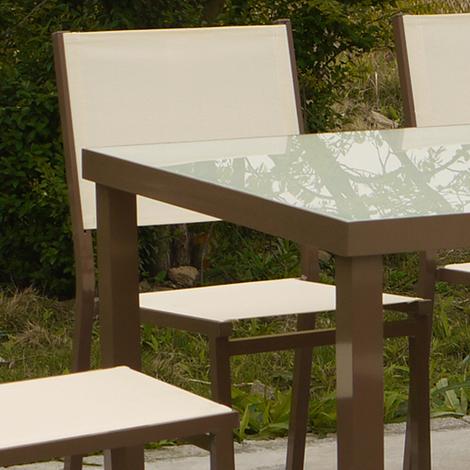 Salon de jardin haut - SANTIAGO - 6 couverts - 35-803510