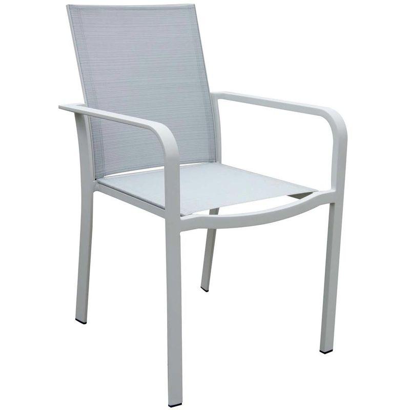 Salon de jardin IBIZA blanc / gris - 794922
