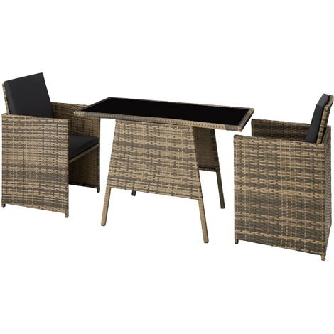 Salon de jardin LAUSANNE 2 places - mobilier de jardin, meuble de jardin, ensemble table et chaises de jardin