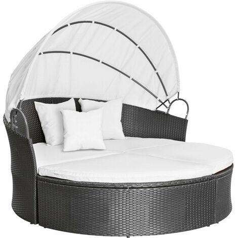 salon de jardin lit bain de soleil canap rond transat. Black Bedroom Furniture Sets. Home Design Ideas