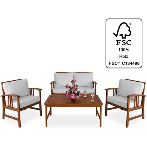 Salon de jardin Lounge Atlas avec housses et coussins - couleur ...