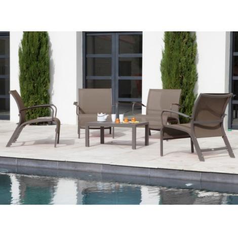 Salon de jardin Lounge Linea Café -
