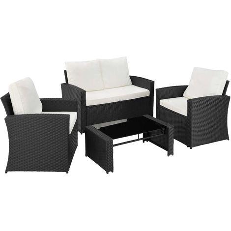 salon de jardin lucques 1 table 1 canap 2 fauteuils en. Black Bedroom Furniture Sets. Home Design Ideas