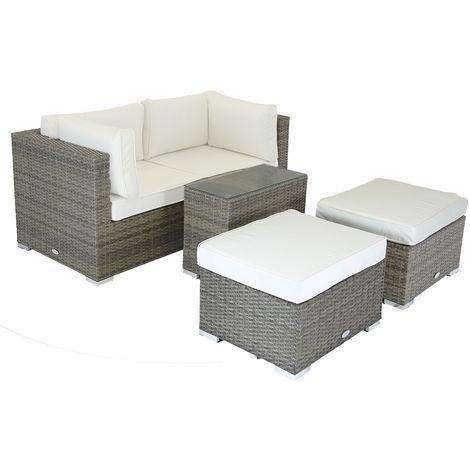 Salon de jardin multifonction moderne 2 sièges amovibles/2 ...