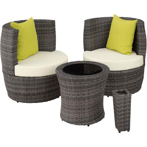 Salon de jardin NICE 2 places - mobilier de jardin, meuble de jardin, ensemble table et chaises de jardin