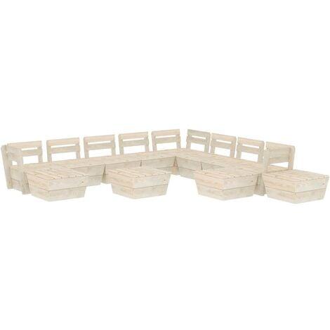 Salon de jardin palette 12 pcs Bois d'épicéa imprégné