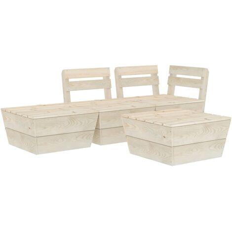 Salon de jardin palette 4 pcs Bois d'épicéa imprégné