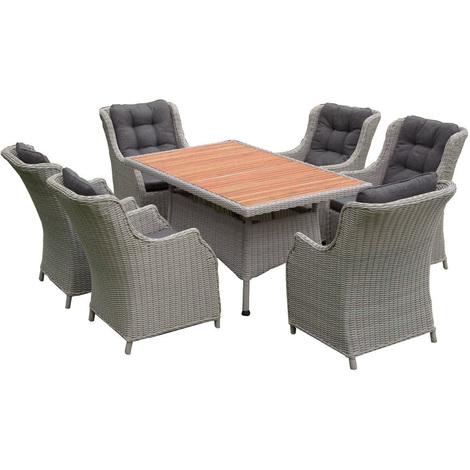 Salon de jardin pour le repas BRIGHTON - 6 pers - Rotin Design -