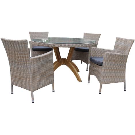 Salon de jardin pour le repas VANDA - 4 pers - Rotin Design -
