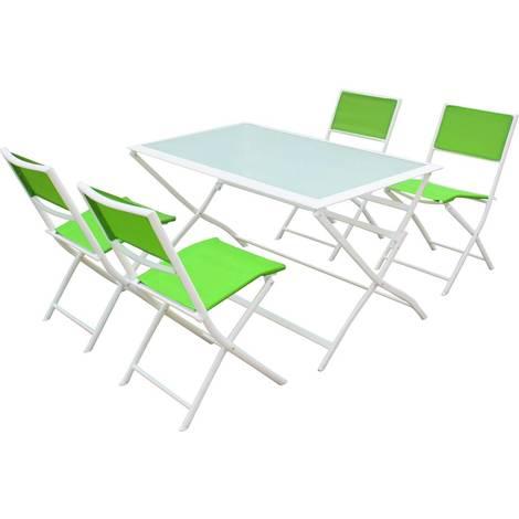 "main image of ""Salon de jardin repas en textilène ""Bistro XL"" - Phoenix - Vert"""