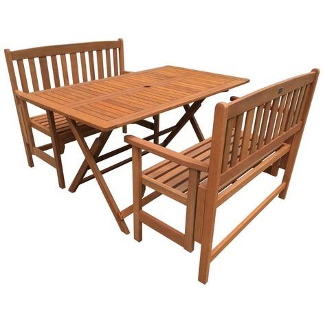 salon de jardin repas shangha maple marron clair. Black Bedroom Furniture Sets. Home Design Ideas