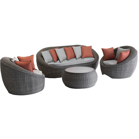 salon de jardin r sine tress e betong hesp ride 159555. Black Bedroom Furniture Sets. Home Design Ideas