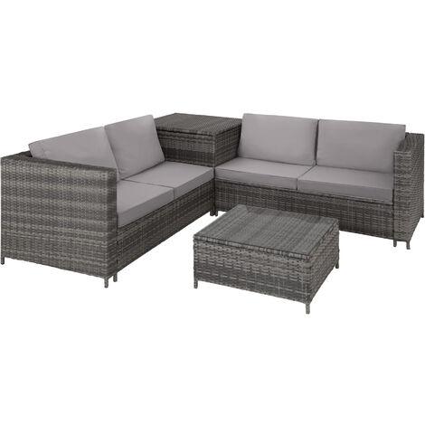 """main image of """"Canapé de jardin SIENNE 4 places avec coffre de rangement - table de jardin, mobilier de jardin, fauteuil de jardin"""""""