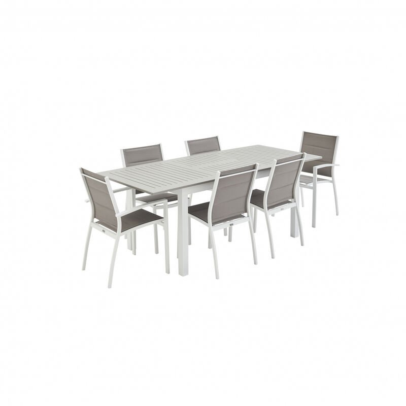 De Table Salon Jardin Extensible Taupe Chicago 210 En LMVUzqpSG
