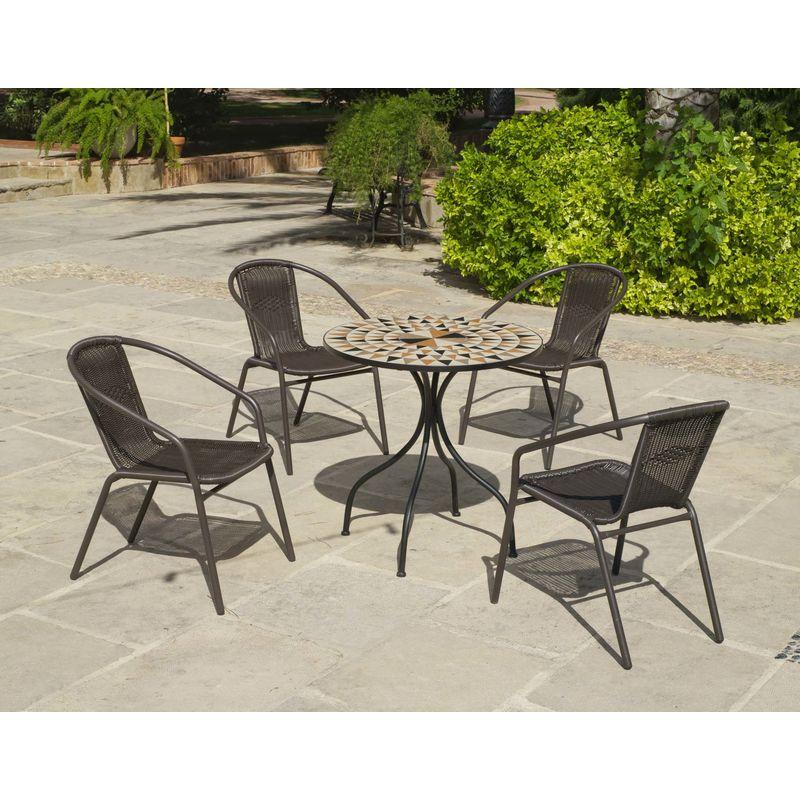 Salon de jardin table ronde mosaïque Albir Brasil - 31384