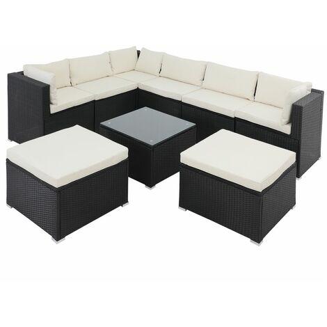 Salon de jardin XL 26 pièces lounge ensemble de jardin coussins salon au choix