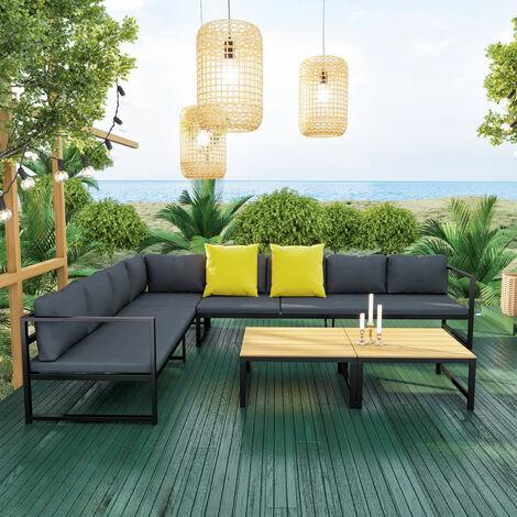Salon modulable relevable de jardin en aluminium design convertible ...