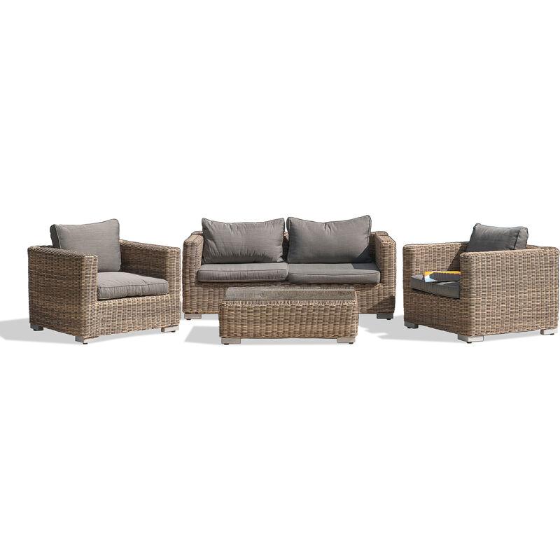 Salon MONTMARTRE 4P: 1 table basse + 1 canape 2P + 2 fauteuils en ...