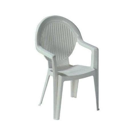 Salon résine blanche fauteuil fidji evolution
