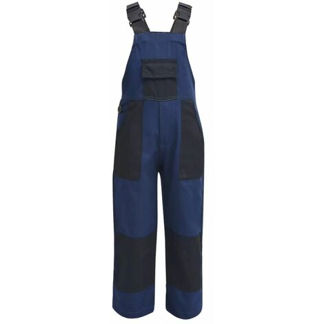 Salopette à bavette pour enfants Taille 110 / 116 Bleu