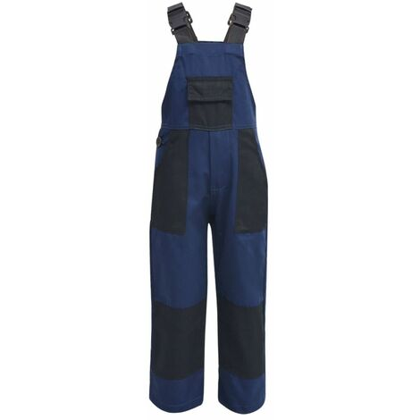 Salopette à bavette pour enfants Taille 122 / 128 Bleu