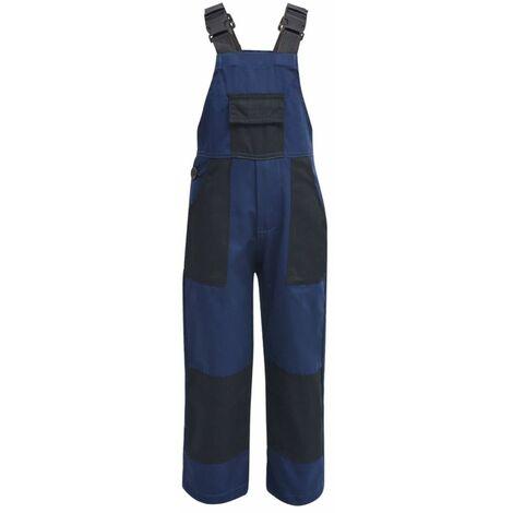 Salopette à bavette pour enfants Taille 158 / 164 Bleu