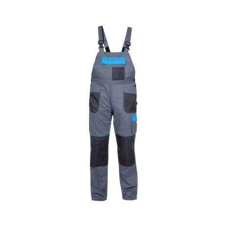Salopette coton gris-bleu L40604 Pro Lahti