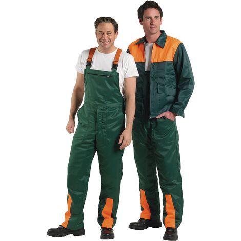 Salopette de sécurité pour forestiers Taille 62/64 vert/orange 50 % nylon / 50 % coton
