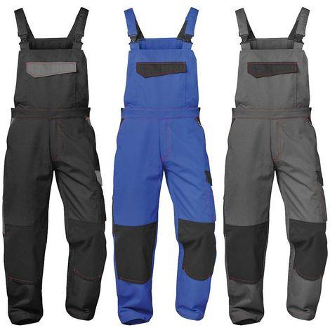 Salopette de travail bleue/noire pour activités de loisirs et professionnelles - taille 42