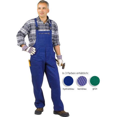 Salopette de travail couleur vert pour homme - taille 27 (court) - taille 52 - taille XL