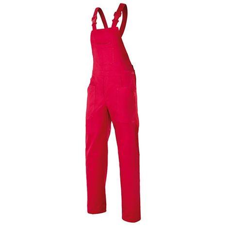 Salopette de travail industrie 6 poches 65% polyester 35% coton 190 gr/m2 - Rouge - 290 - Velilla