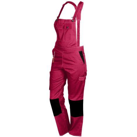 Salopette femme de travail rose/noir PEP'S FASHION SECURITE - plusieurs modèles disponibles