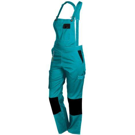 Salopette femme de travail turquoise/noir PEP'S FASHION SECURITE - plusieurs modèles disponibles