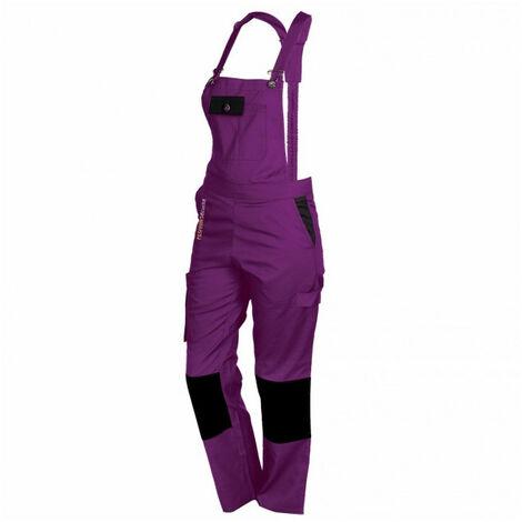 Salopette femme de travail violet/noir PEP\'S FASHION SECURITE - plusieurs modèles disponibles