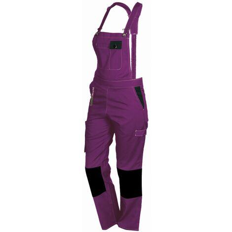 Salopette femme de travail violet/noir PEP'S FASHION SECURITE - plusieurs modèles disponibles