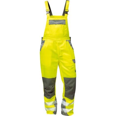 Salopette Haute visibilité Colmar Taille 56, jaune/gris