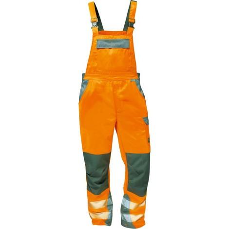 Salopette Haute visibilité METZ Taille 60, orange/gris