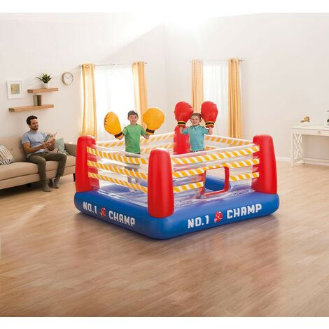 Saltador Jump o Lene Fun Ring hinchable Intex 48250 con dos pares de guantes