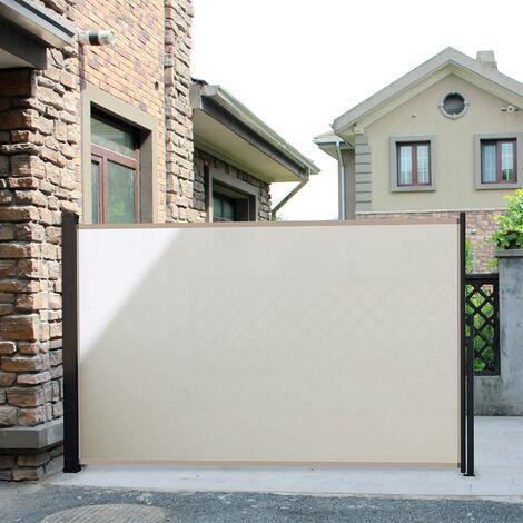 Saltillo crudo XL: mampara desplegable, biombo exterior extensible 300 x 170cm