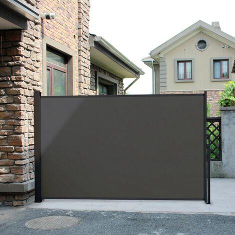 Saltillo gris: mampara desplegable, biombo exterior extensible 300 x 150cm