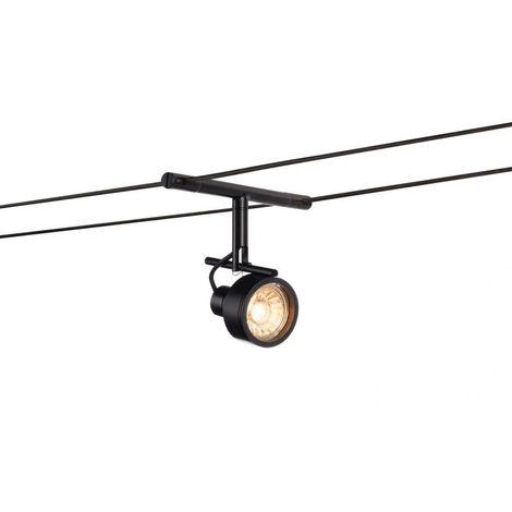 SALUNA, spot pour câble tendu, MR16, noir