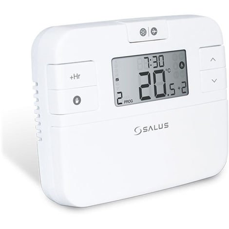 Salus RT510LG+5V Digital Programmable Thermostat and Receiver Compatible with Ideal Logic