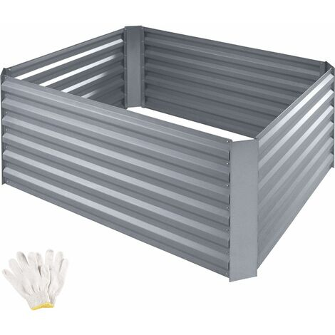 Salvia Zinc-Plated Raised Bed - silver