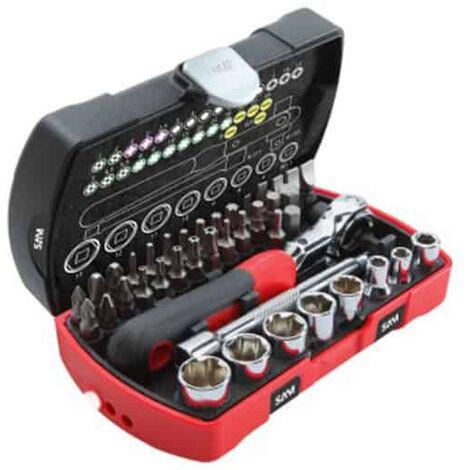 "SAM Coffret serrage vissage 40 outils 1/4 - 73-R40Z"""