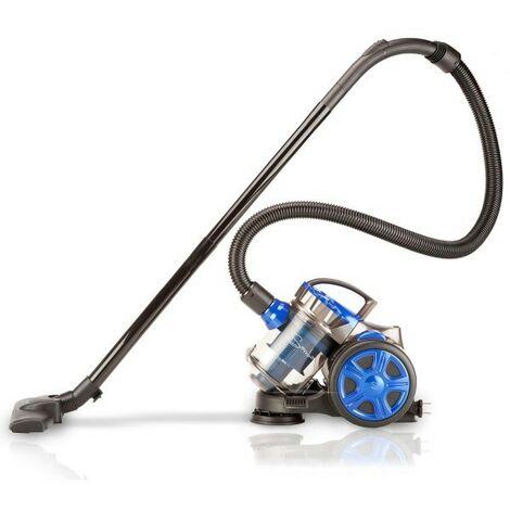 SAMBA- Aspirador Trineo Blue Multiciclónico, Sin Bolsa. Depósito 2L.Potente. Ligero y Compacto. Silencioso 80 dB(A).