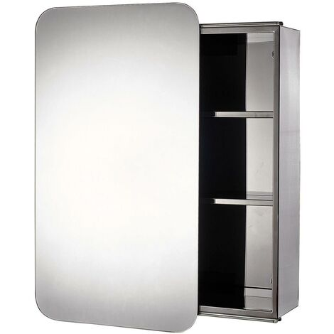 Samremo Stainless Steel Wall Mounted Mirror Cabinet